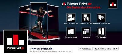 Primus-Print.de jetzt auch mit eigenem Facebook-Auftritt