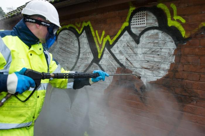 Neue Lösung zur Entfernung von Graffiti