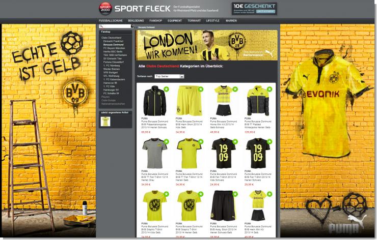 Sport Fleck: Neue BVB-Fan-Kollektion 2013/2014 ab sofort bei uns erhältlich!