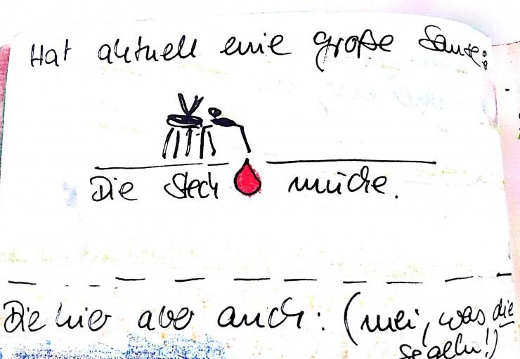 Die Mückenplage zur Kunst machen: Kunst auf Reisen mal anders