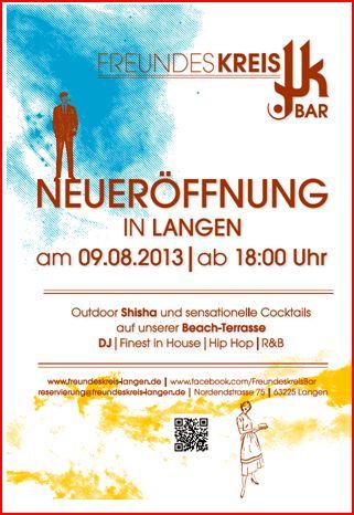 In aller Freundschaft: FREUNDESKREIS Shisha-Lounge und Bar eröffnet in Langen