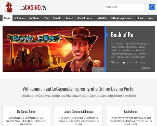 LaCasino.tv - Online Casino Spiele in Deutschland