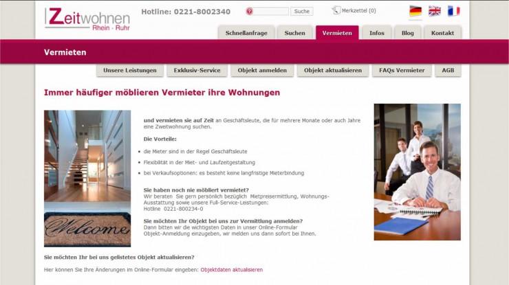 Vermieterservice von Zeitwohnen Rhein Ruhr GmbH