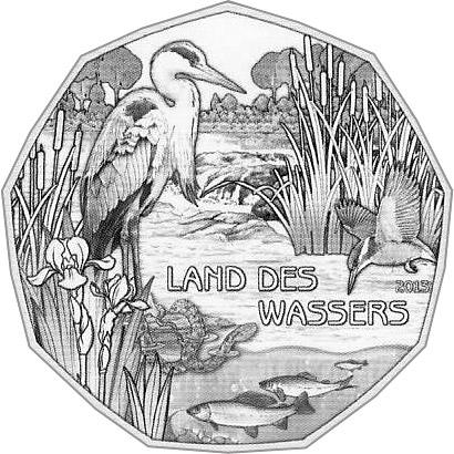 5 Euro Silbermünze zum UNESCO Weltwasserjahr 2013 - Land des Wassers Österreich