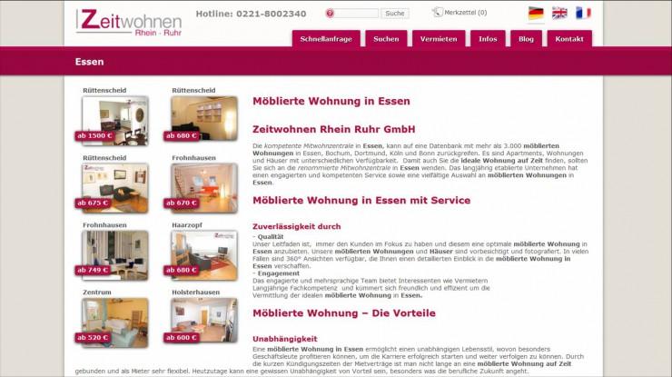Zeitwohnen Rhein Ruhr GmbH wächst überproportional in Essen
