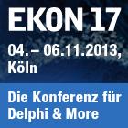 EKON 17 - Die Entwickler Konferenz für Delphi startet am 4. November 2013