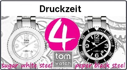 Druckerei verschenkt Tom Watch Uhren an Kunden