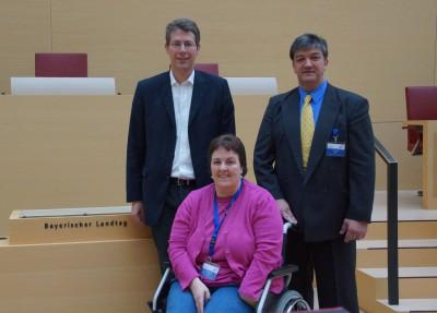 MdL Markus Blume empfängt Dystonie Treff online e.V. im Bayerischen Landtag