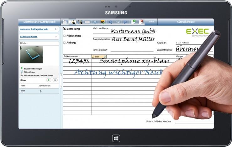 Tablets mit Stifteingabe statt Papierformulare