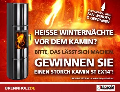 BRENNHOLZ.DE  Premium Storch Kamin zu gewinnen