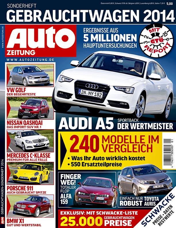 GTÜ-Gebrauchtwagenreport 2014: Deutsche Pkw sind spitze