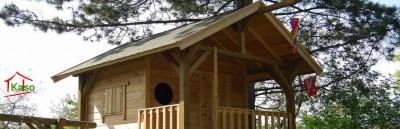 Ein Premium Spielhaus Holz in verschiedenen Ausführungen bei kasohaus.de