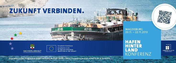 Hier werden Sie einfach mehr erreichen - Einladung zur Hafenhinterland-Konferenz in Sachsen-Anhalt