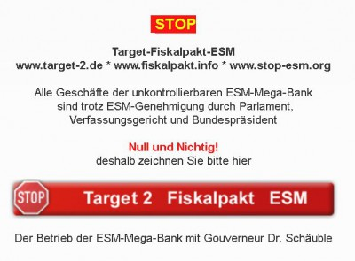 Taxpayers Association Europe: Mit Vollgas ins Chaos! - ESM + EZB = doppelte Gefahr