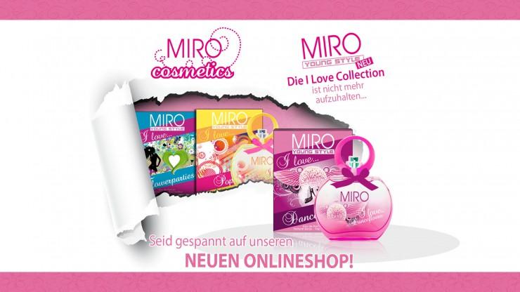 Premiere: MIRO Cosmetics mit Online-Shop