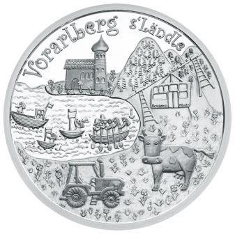 S'Ländle wird versilbert: Vorarlberg Münze setzt Bundesländerserie fort