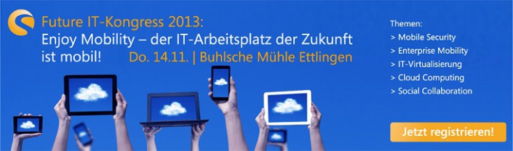 Future IT-Kongress 2013 der AppSphere AG in der Buhlschen Mühle, Ettlingen