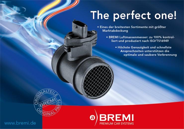 BREMI präsentiert eines der breitesten Luftmassenmesser-Sortimente im internationalen Ersatzteilmarkt