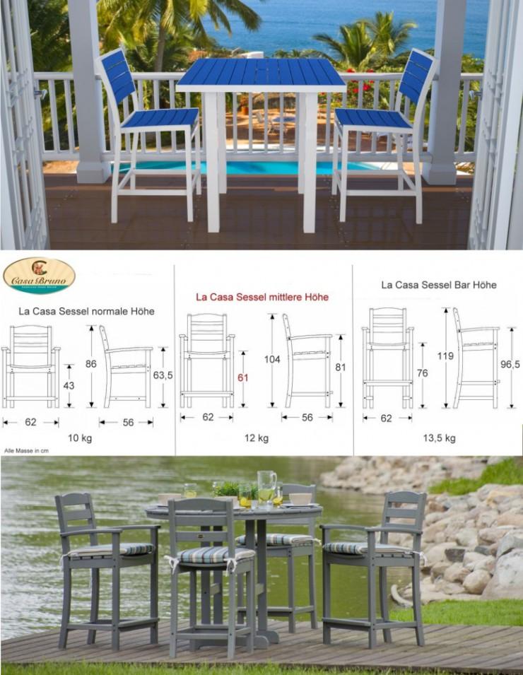 Seniorengerechtes Aussenmobiliar für Garten und Terrasse erleichtert das Hinsetzen und Aufstehen