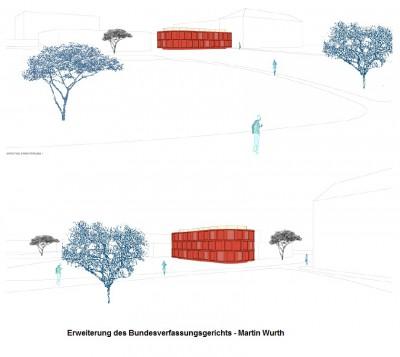 Erweiterung des Bundesverfassungsgerichts in Karlsruhe von Martin Wurth