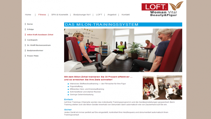 Der MILON- Zirkel im Fitness LOFT in Hannover