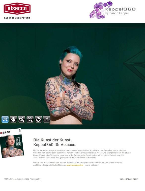Die Kunst der Kunst: 360°-Peopleshooting für digitales Magazinfeature von Alsecco im Studio Hanno Keppel