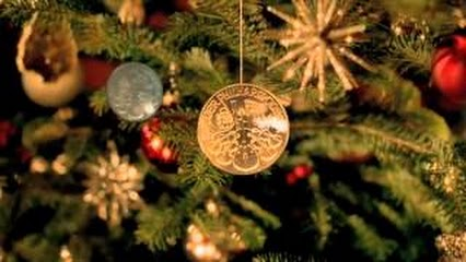 Münze Österreich wünscht Goldene Weihnachten