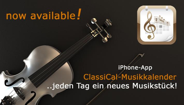Gratis Musik-Download: iOS-App ClassiCal-Musikkalender