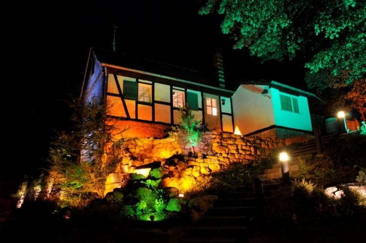 Stimmungsvolle Gartenbeleuchtung