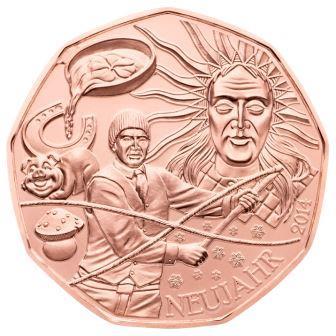 Viel Glück im neuen Jahr mit der Neujahrsmünze von Münze Österreich