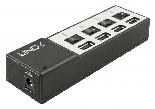 Viermal richtig Power für USB