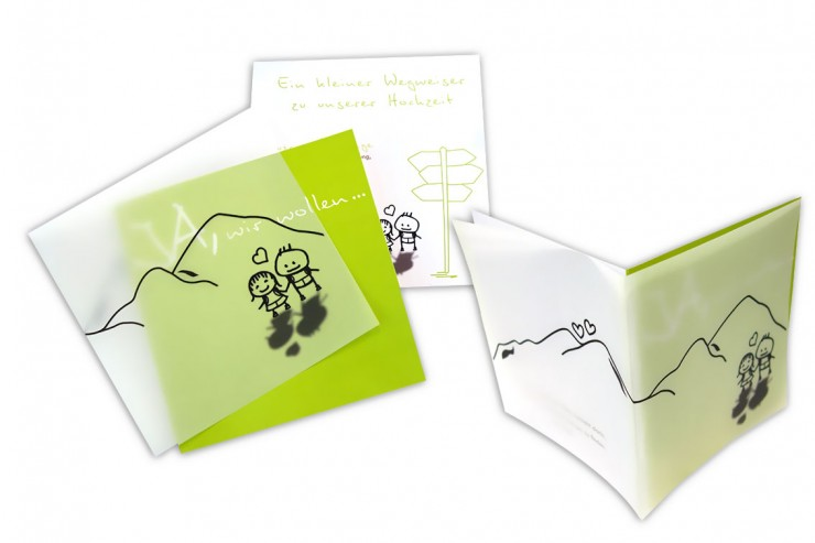 Der etwas andere Hochzeitskarten Online-Shop: Der Kunde lässt seine eigenen Hochzeitseinladungen  vom Designer gestalten