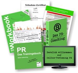 Crashkurs PR:  komplettes Trainingsprogramm rund ums Thema Pressearbeit