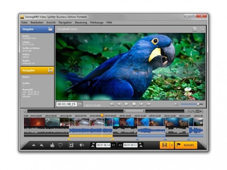 Video Splitter schneidet Flash-Videos in Sekunden