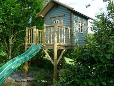 Stelzenhaus Aufbau für den privaten Garten