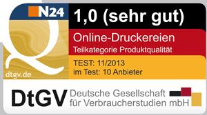 Produktqualität von Primus-Print.de mit dem Prädikat