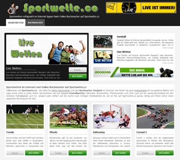 Sportwetten online tippen mit Sportwette.co