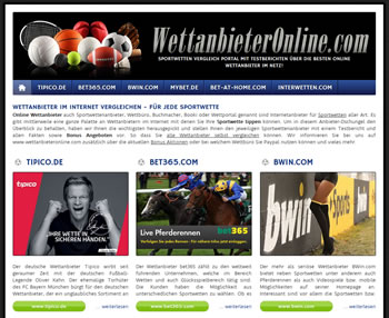 Online Wettanbieter Vergleich - immer den passenden Sportwettenanbieter finden