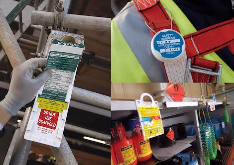 Visuelle Kennzeichnung zur Inspektion, Prüfung und Wartung an Betriebsmitteln