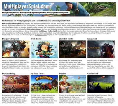 Multiplayer Online Spiele und Browsergames kostenlos spielen